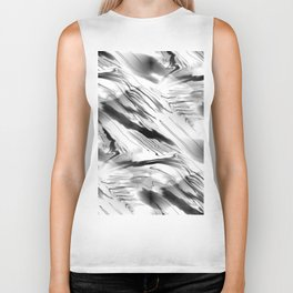 Modern Abstract - Black and White Biker Tank