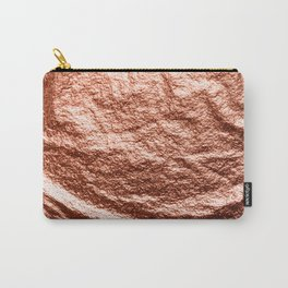 Rose gold draped foil Carry-All Pouch