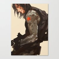 bucky Canvas Prints featuring Bucky Cover by MMCoconut