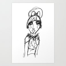 LINA {Glitter + Fur} Art Print