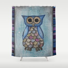 Owl Hoot Shower Curtain