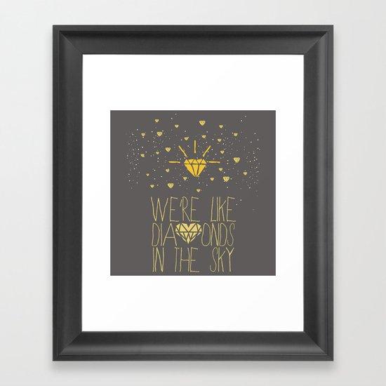 bright like a Diamond Framed Art Print