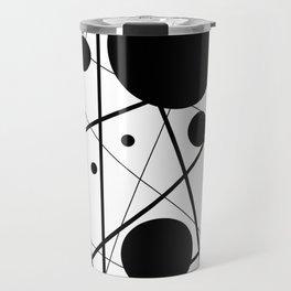 Abstract Lines and Dots Travel Mug
