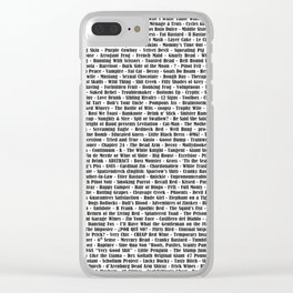 Crazy Fantastic Dirty Wine List Clear iPhone Case
