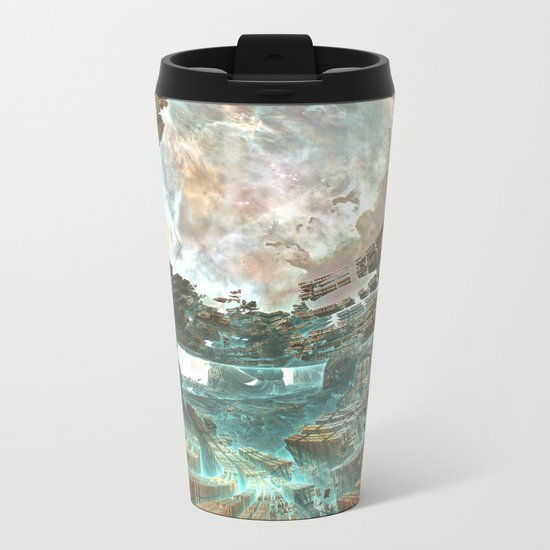 Aqua Space Shipyard Metal Travel Mug