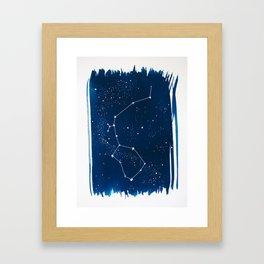 Aquarius Zodiac Print Framed Art Print
