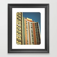 Lo-Fi Highrise ~ Mid-Century Architecture Framed Art Print