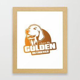 I LOVE MY GOLDEN RETRIEVER Framed Art Print