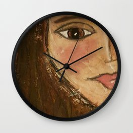 Olive Eyes  Wall Clock