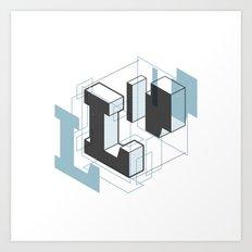 The Exploded Alphabet / L Art Print
