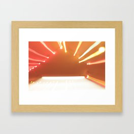beaming Framed Art Print