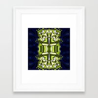 moulin rouge Framed Art Prints featuring Moulin Vert by Carter Herrington