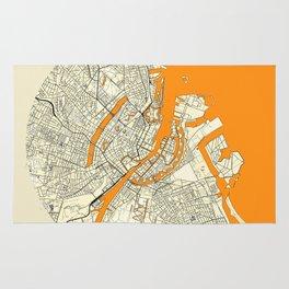 Copenhagen Map Moon Rug