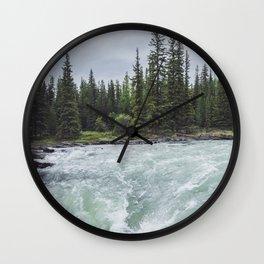 Athabasca River Wall Clock