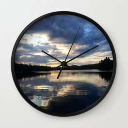 Mirror Mirror on the Lake Wall Clock
