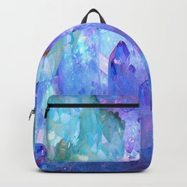 ESOTERIC AMETHYST CRYSTALS &  AQUAMARINE CRYSTALS Backpack