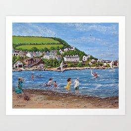 Newquay, Wales Art Print