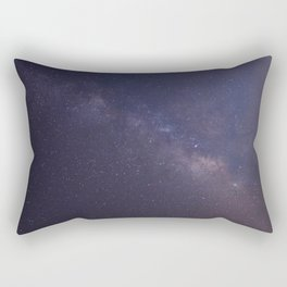 Purple Star Galaxy Rectangular Pillow