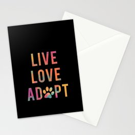 Live Love Adopt Stationery Cards