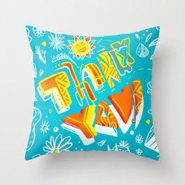 Thank you ! Throw Pillow