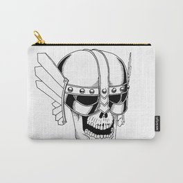 Viking skull with helmet Carry-All Pouch