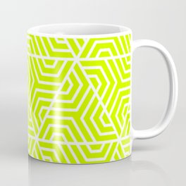 Electric lime - green - Geometric Seamless Triangles Pattern Coffee Mug