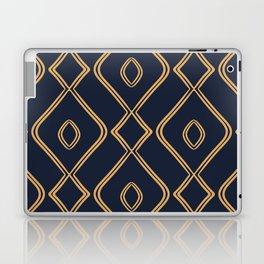Modern Boho Ogee in Navy & Gold Laptop & iPad Skin