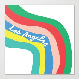 LOS ANGELES RAINBOW STRIPES Canvas Print