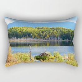 Mount Albert, Lac Neuf and the Beaver Lodge Rectangular Pillow
