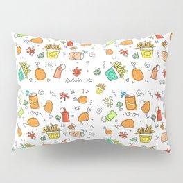 Fast Food Pattern Pillow Sham