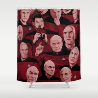 picard Shower Curtains featuring Picard Day by Brian J. Smith