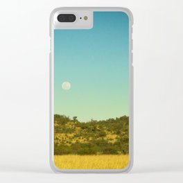 African Moon Clear iPhone Case