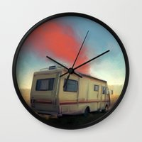 breaking bad Wall Clocks featuring breaking bad by robotrake