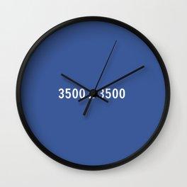 3000x2400 Placeholder Image Artwork (Facebook Blue) Wall Clock