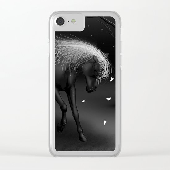 Black Horse Clear iPhone Case