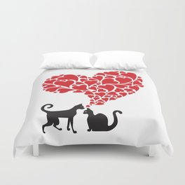 cats in love Duvet Cover