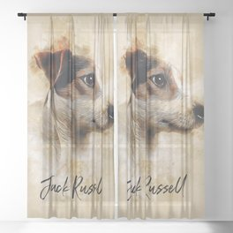 Jack Russell Sheer Curtain