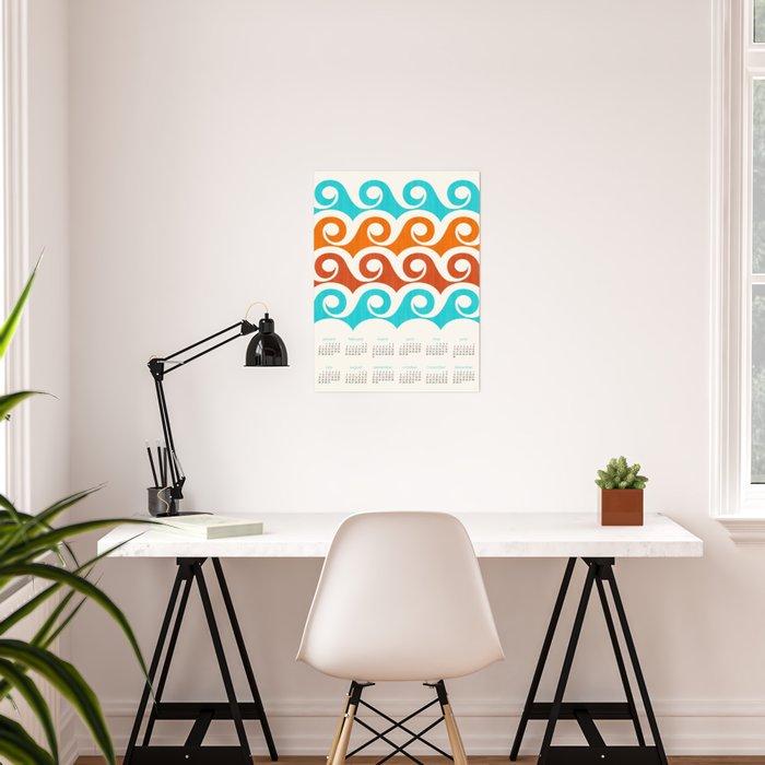 2019 Retro Wave Calendar Poster