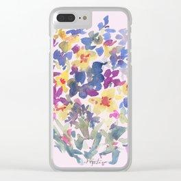 Wildflower Lovelies Clear iPhone Case