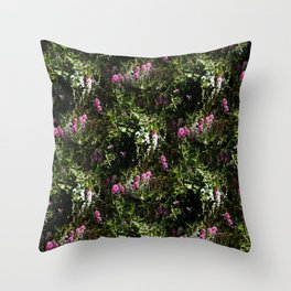 In the mountains where the Sweet Peas grow... Throw Pillow