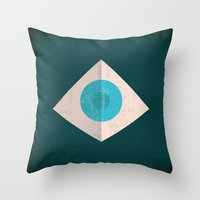 1984 Throw Pillows featuring 1984 by Christian Jackson