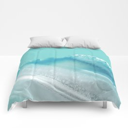 Geode Crystal Turquoise Blue Comforters