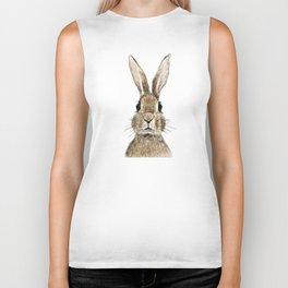 cute innocent rabbit Biker Tank