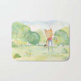 Fox in the park Bath Mat