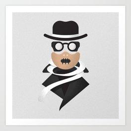 Invisible Man / Hannibal Lecter Art Print