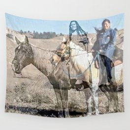 She never rides alone Wall Tapestry