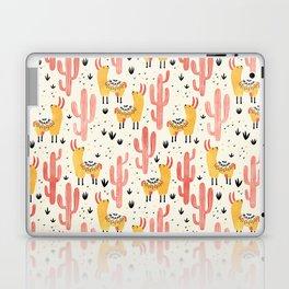 Yellow Llamas Red Cacti Laptop & iPad Skin
