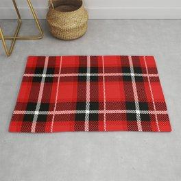 Red + Black Plaid Rug