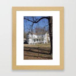 Cherokee Nation - The Ivy-Duncan-Dannenburg Home, built in 1874 Framed Art Print