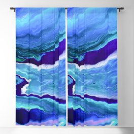 Dreamy Fluid Abstract Painting Blackout Curtain